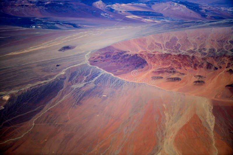 Bunte Regenbogenberge in Peru mit Märchenansichten stockfoto