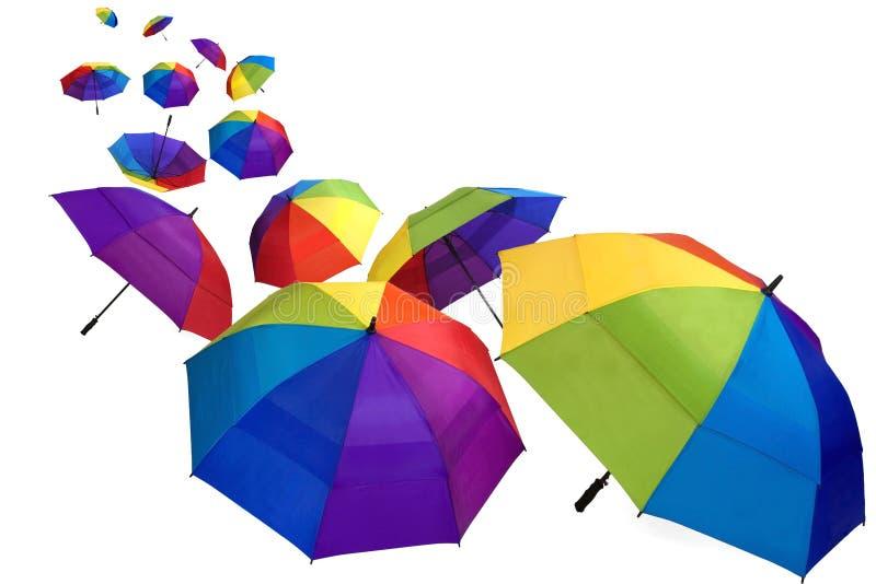 Bunte Regenschirme stockfoto