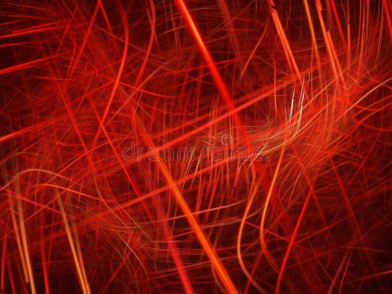 Bunte rote Plasmakurven im Raum lizenzfreie abbildung