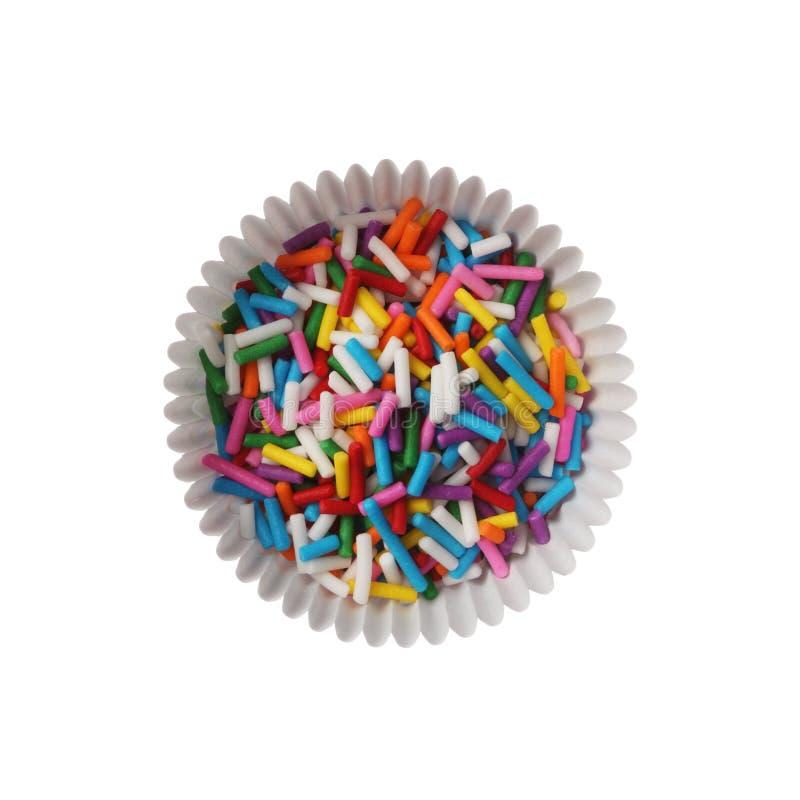 Bunte Süßigkeit spritzt stockfoto
