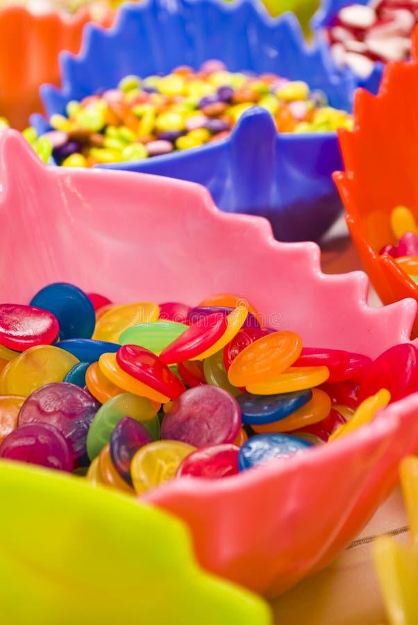 Bunte Süßigkeiten stockbilder