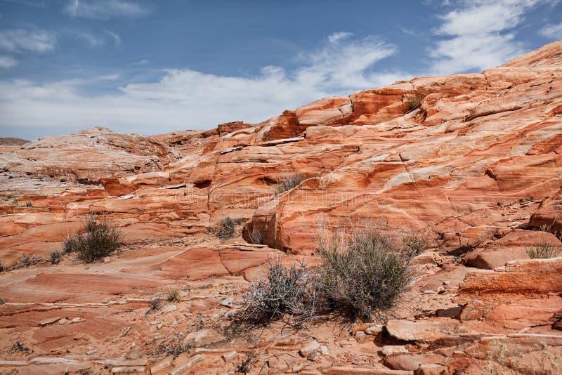 Bunte Sandsteinfelsen an der Wüste des Tales des Feuer-Nationalparks, Landschaft in USA lizenzfreies stockbild