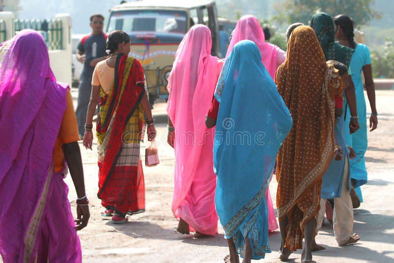 Bunte Saris stockfotografie