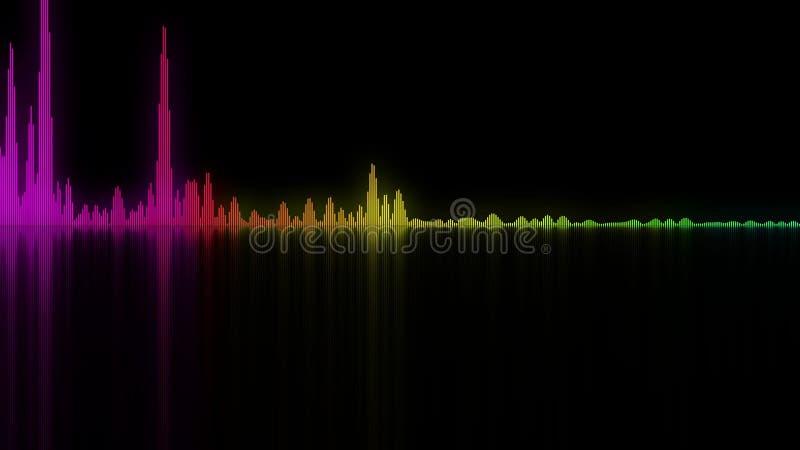 Bunte Schallwellen Hintergrund für Audiokonzepte lizenzfreie abbildung