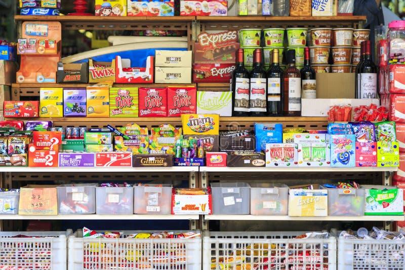 Bunte Snäcke und Süßigkeiten lizenzfreie stockfotos
