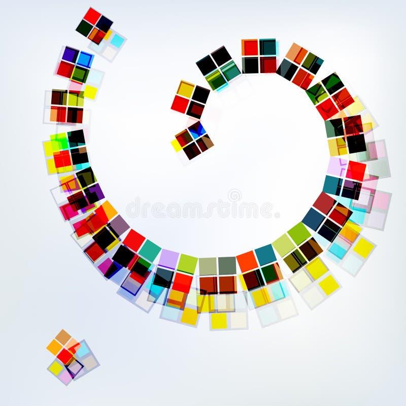 Bunte Spirale, abstrakter Hintergrund stock abbildung