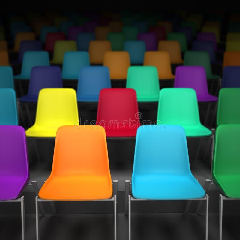 Bunte Stühle stockbild. Bild von hell, gegenständer, sitzung - 52834625