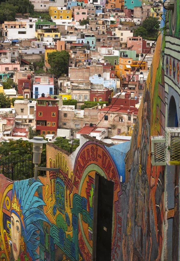 Bunte Stadt von Guanajuato Mexiko lizenzfreies stockfoto
