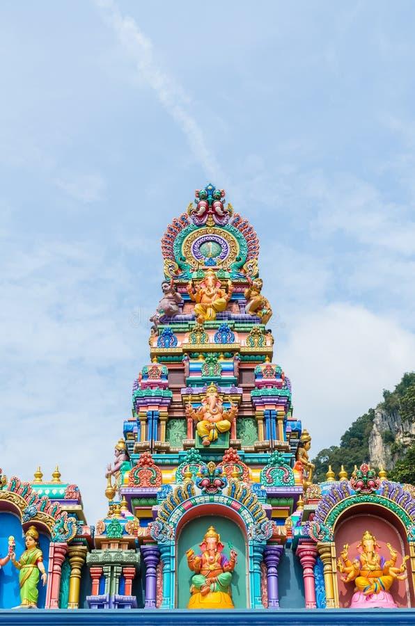 Bunte Statuen an den Batu-Höhlen Tempel, Kuala Lumpur Malaysia stockbild