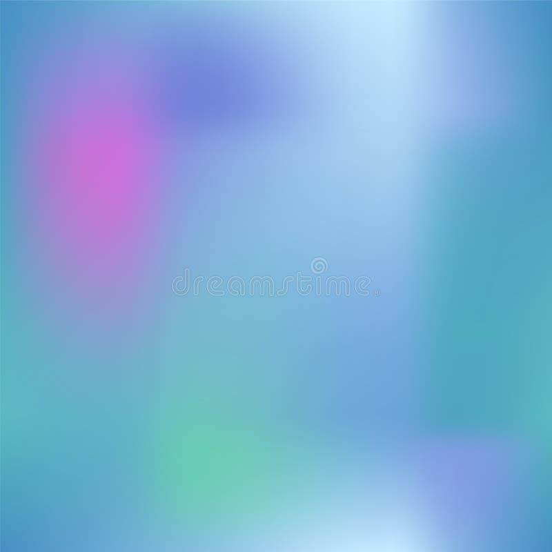 Bunte Steigungsmasche mit dunklem rosa, Blau und Grün Heller farbiger quadratischer Hintergrund lizenzfreie abbildung