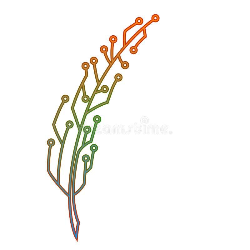 Bunte stilised Spule hergestellt von curcit Digital-Kreativitätskonzept Logo- oder Ikonendesign stock abbildung