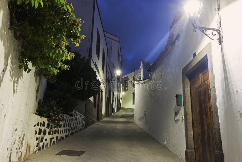 Bunte Straßen von Arucas lizenzfreie stockfotografie