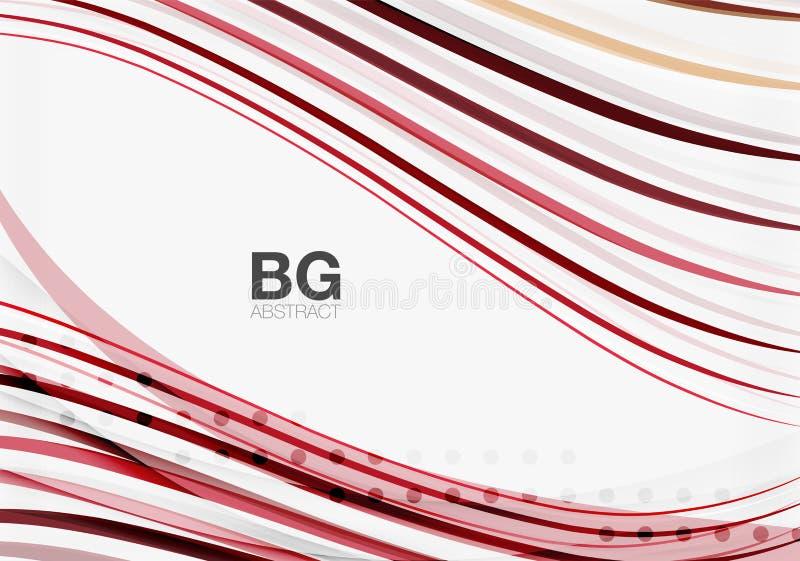 Bunte Streifen auf Grau stock abbildung