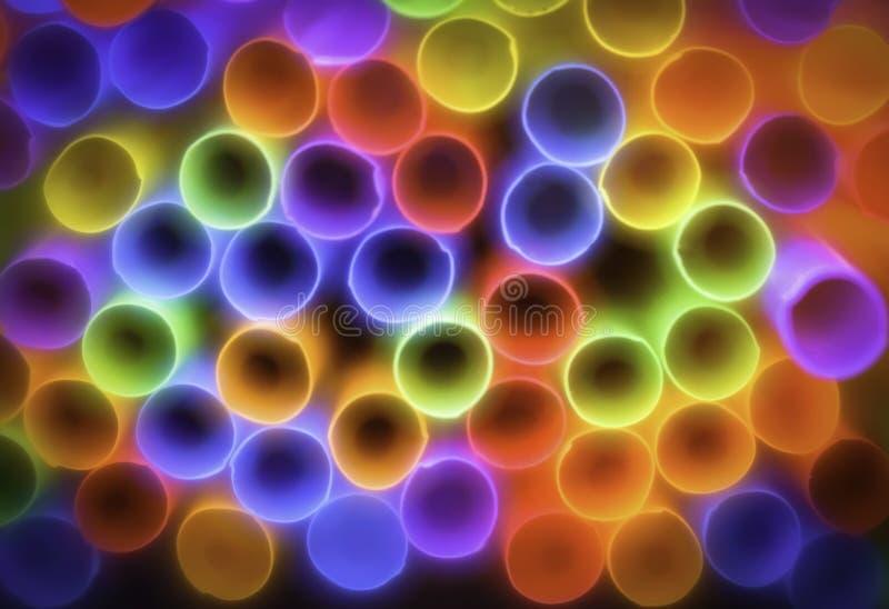 Bunte Strohe, abstrakter Hintergrund lizenzfreie stockfotografie
