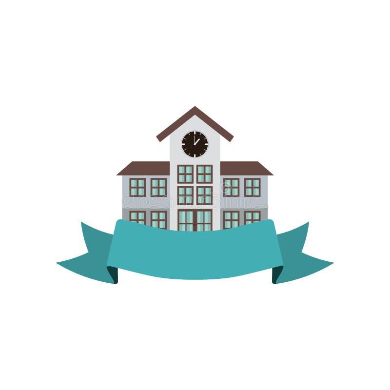 Bunte Struktur Highschool des Schattenbildes mit Band lizenzfreie abbildung