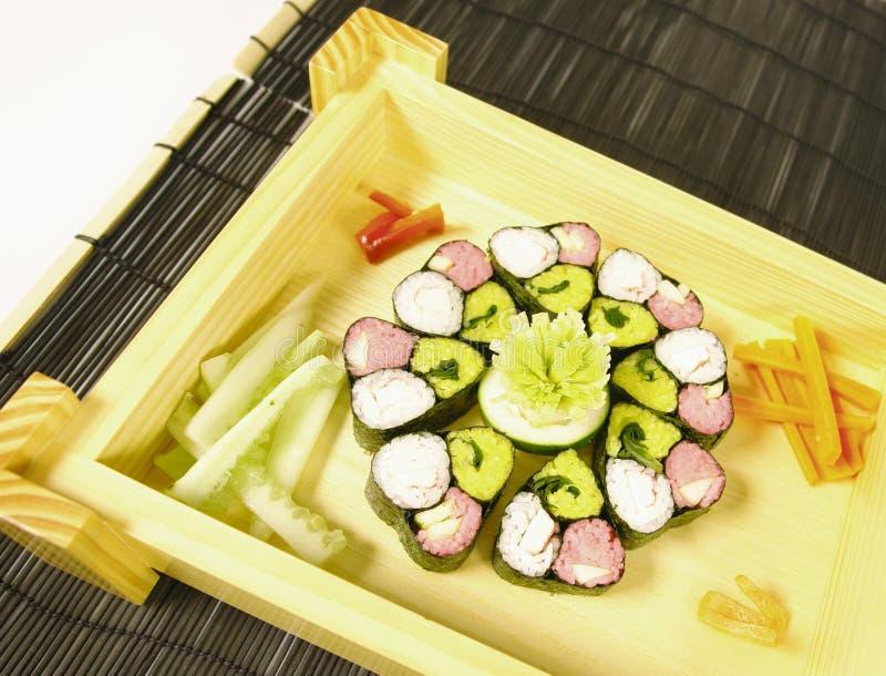 Bunte Sushi stockfotografie