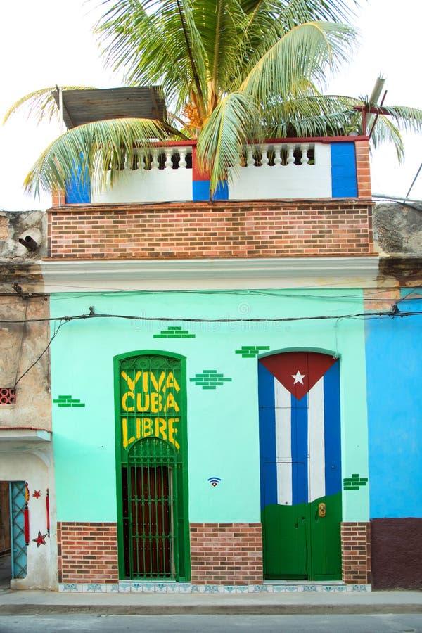 Bunte Türen in Havana in Kuba stockbilder