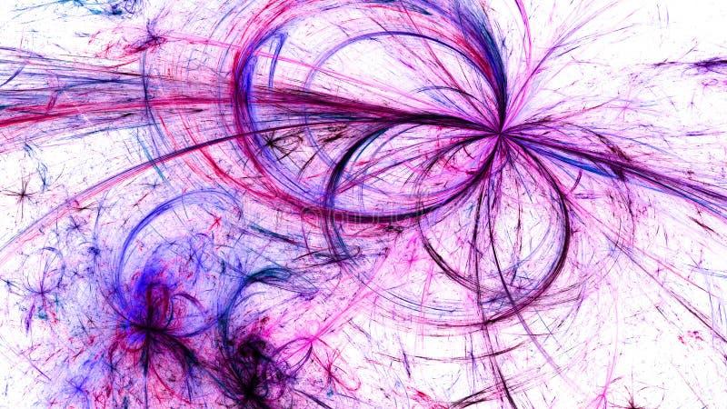 Bunte umgekehrte glühende elektromagnetische Plasmafelder im Raum stock abbildung