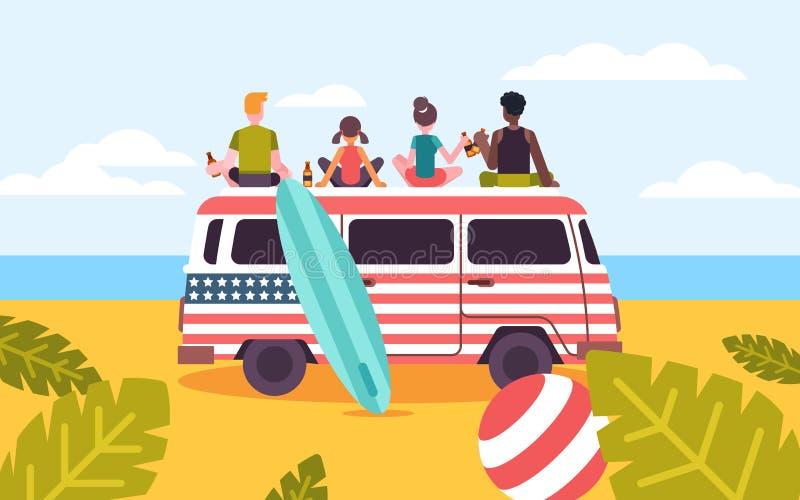Bunte Vektorillustration für feiern Freundschafts-Tag lizenzfreie abbildung