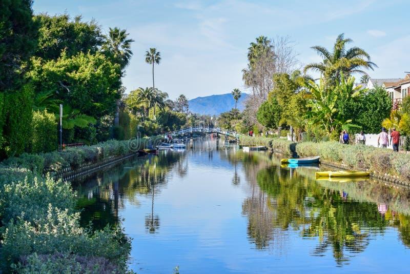 Bunte Venedig-Kanäle in Los Angeles, CA lizenzfreie stockfotografie