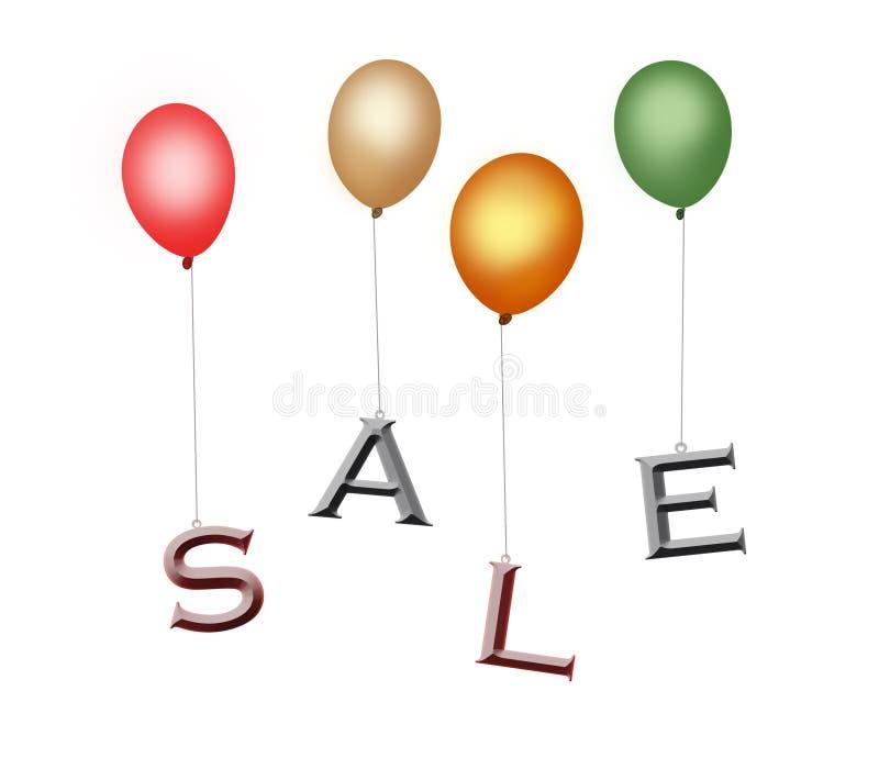 Bunte Verkaufsballone mit Ausschnittspfad stock abbildung