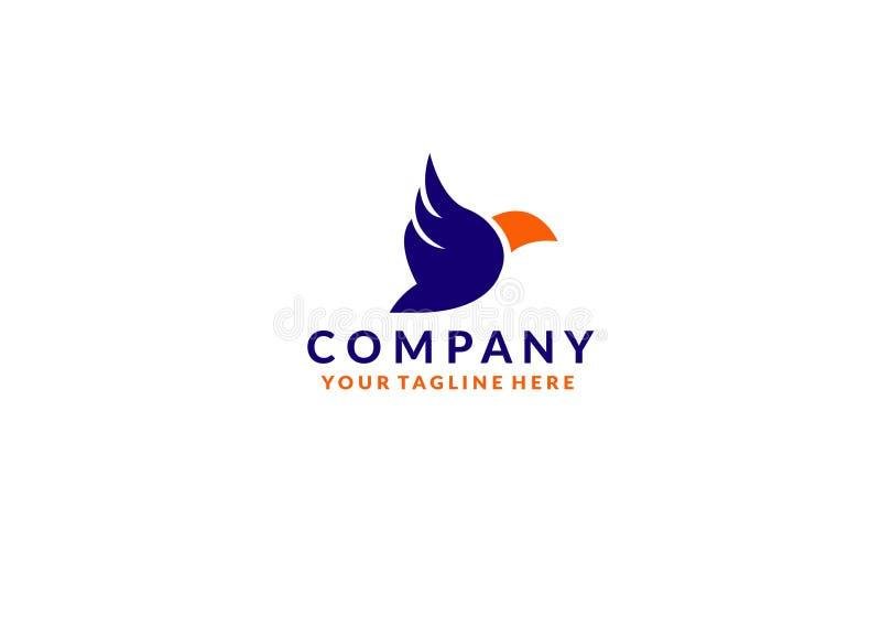 Bunte Vogel-Zusammenfassungs-Logoentwurfs-Vektorschablone Fliegende Tauben-Firmenzeichenkonzeptikone lizenzfreie abbildung