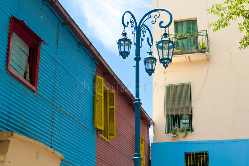 Bunte Wände im La Boca, Buenos Aires stockbilder