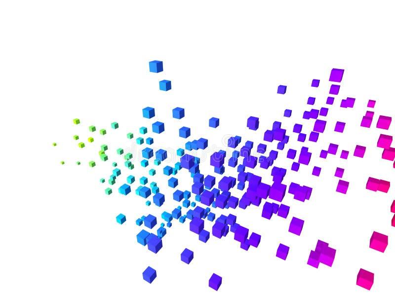 Bunte Würfel vektor abbildung