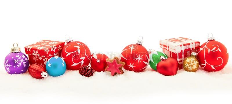 Bunte Weihnachtshintergrundfahne lizenzfreie stockfotos