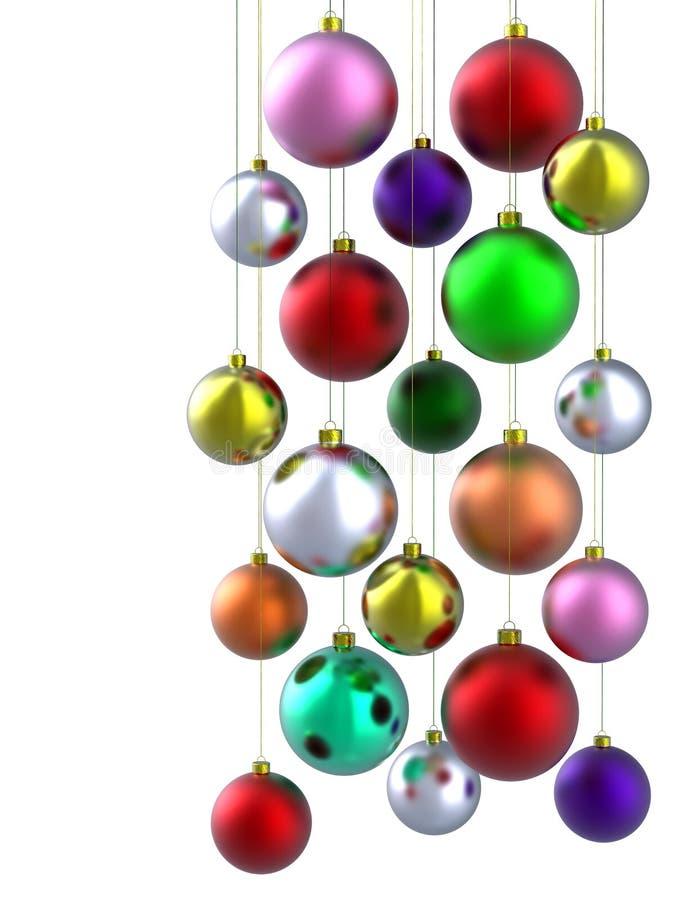 Bunte Weihnachtskugel vektor abbildung