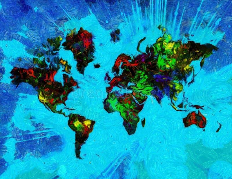 Bunte Welt lizenzfreie abbildung