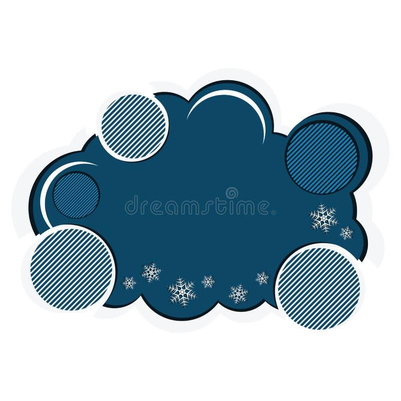 Bunte Winterfahne mit Schneeflocken vektor abbildung