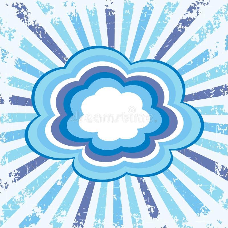 Bunte Wolken lizenzfreie abbildung