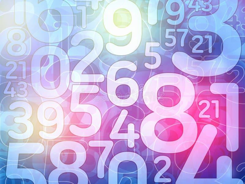 Bunte Zufallszahlenhintergrundillustration vektor abbildung