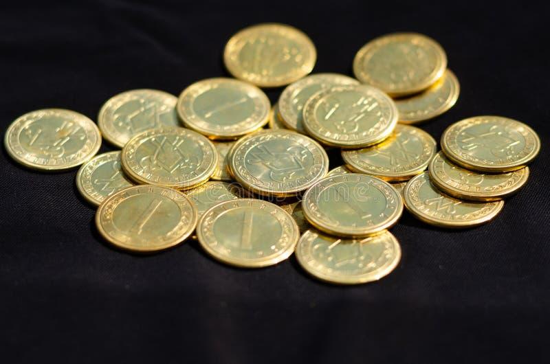 Bunten av myntar arkivfoton