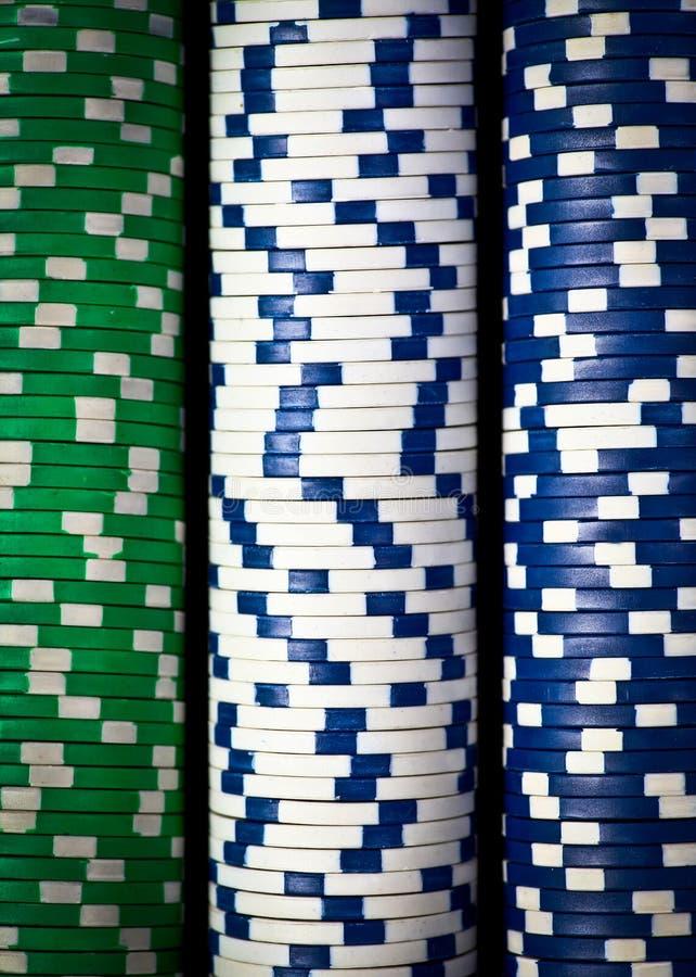 Bunten av poker gå i flisor fotografering för bildbyråer