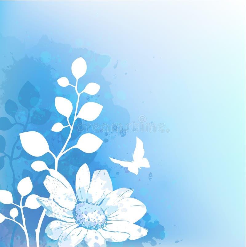 Bunter abstrakter Blumenhintergrund lizenzfreie abbildung