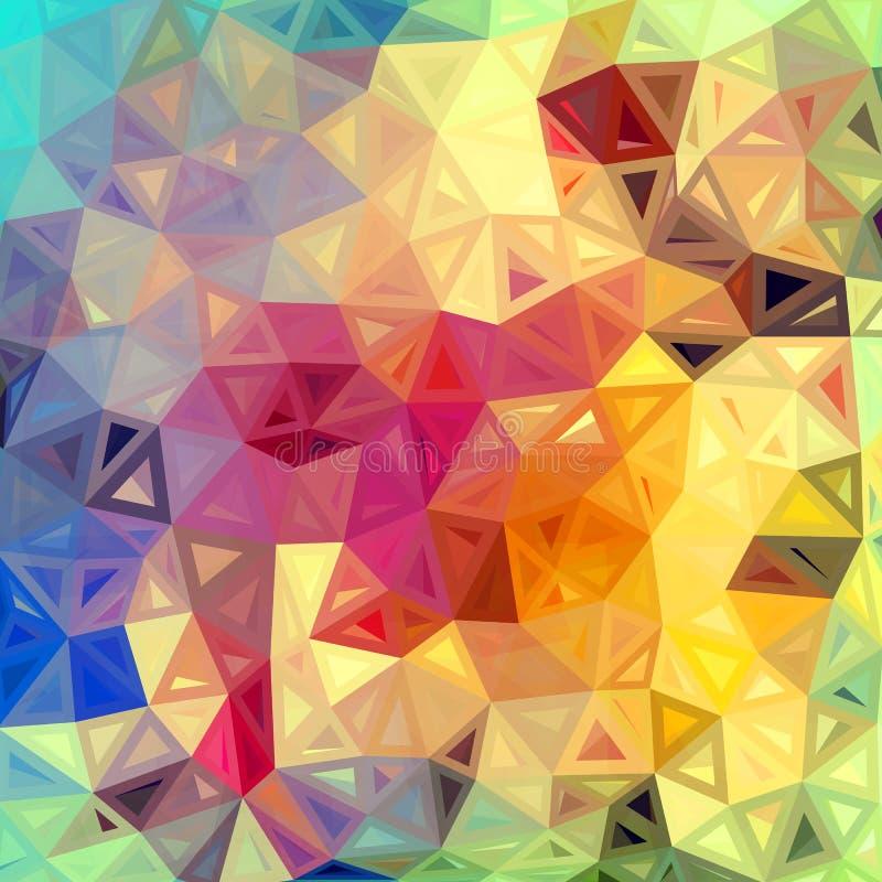 Bunter abstrakter Dreieckvektorhintergrund vektor abbildung