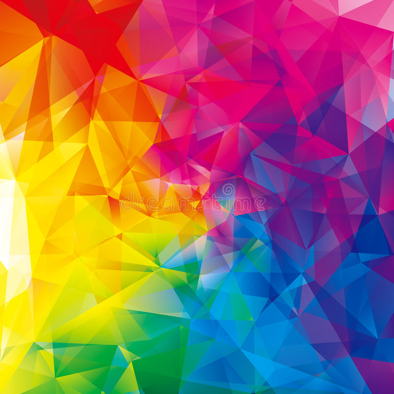 Bunter abstrakter geometrischer Hintergrund vektor abbildung