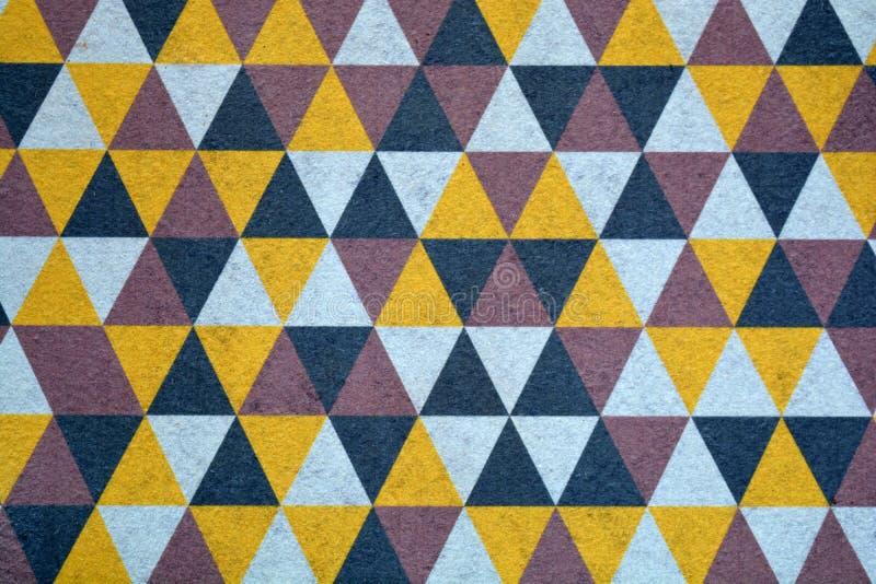 Bunter abstrakter geometrischer Hintergrund der neuen Fußmattenwolldecke lizenzfreie stockbilder