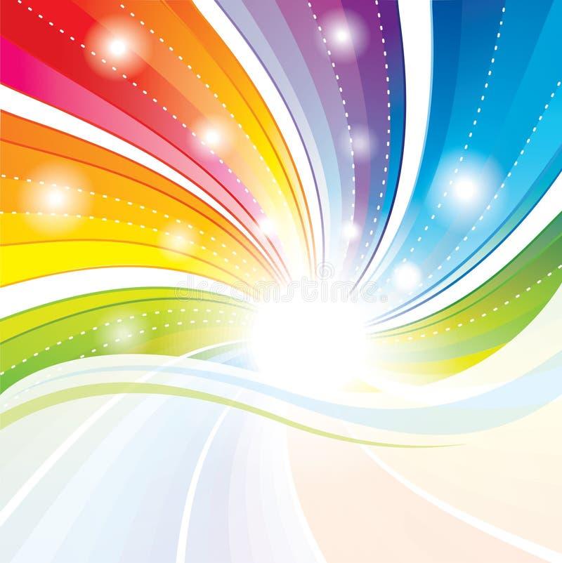 Bunter abstrakter Hintergrund. stock abbildung
