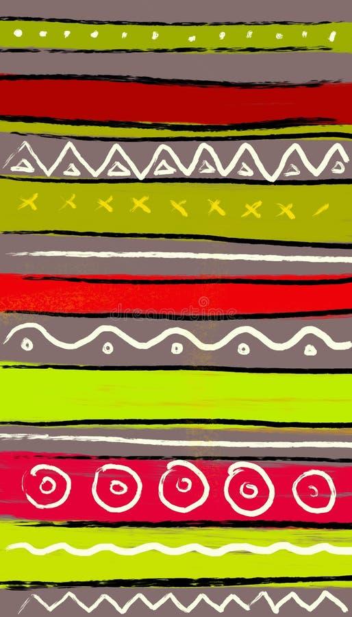 Bunter abstrakter Hintergrund Abstriche von mehrfarbigen Farben stock abbildung