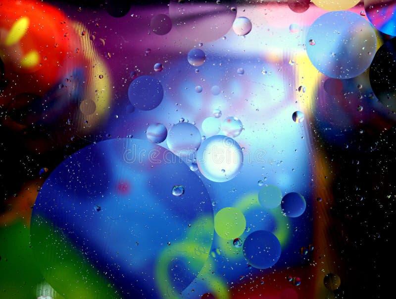 Bunter abstrakter Hintergrund von vielen Blasen stockfoto