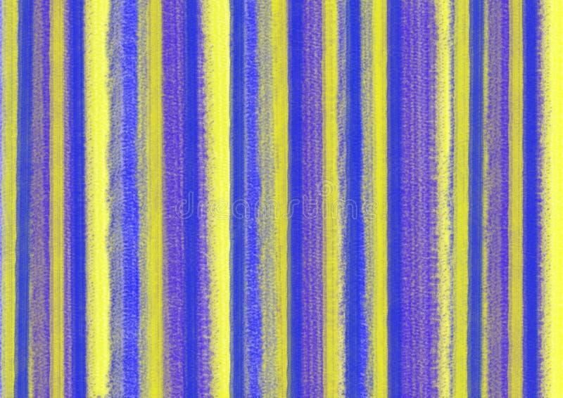 Bunter abstrakter Pastellhintergrund mit vertikalen Pinselstrichen in den blauen und gelben Farben Format der Größe A4 vektor abbildung