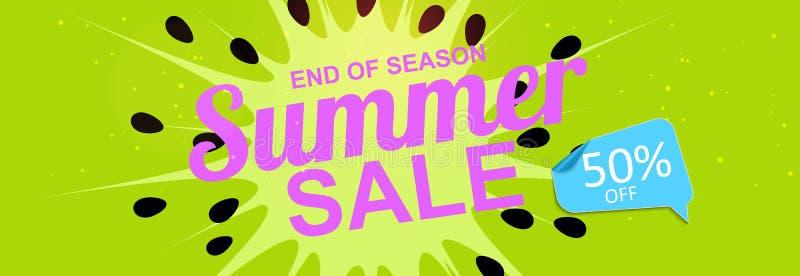 Bunter abstrakter Sommerschlussverkauf-Hintergrund Auch im corel abgehobenen Betrag lizenzfreie abbildung