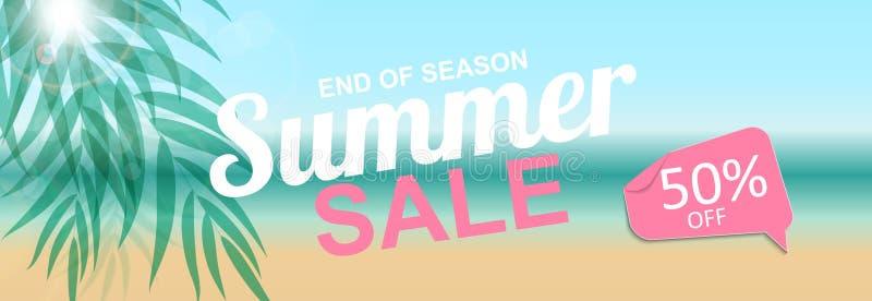 Bunter abstrakter Sommerschlussverkauf-Hintergrund Auch im corel abgehobenen Betrag stock abbildung