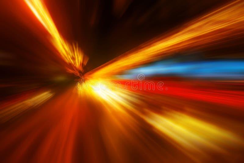 Bunter abstrakter Unschärfehintergrund des Zoomeffektes stockbilder