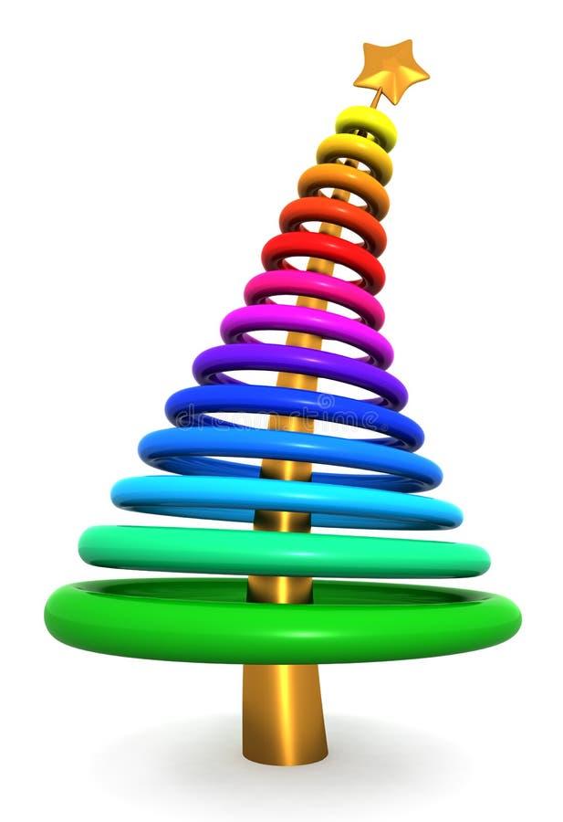Bunter abstrakter Weihnachtsbaum stock abbildung