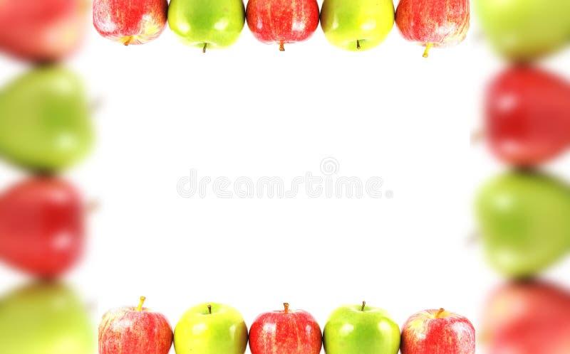 Bunter Apfelrand lizenzfreie stockfotos