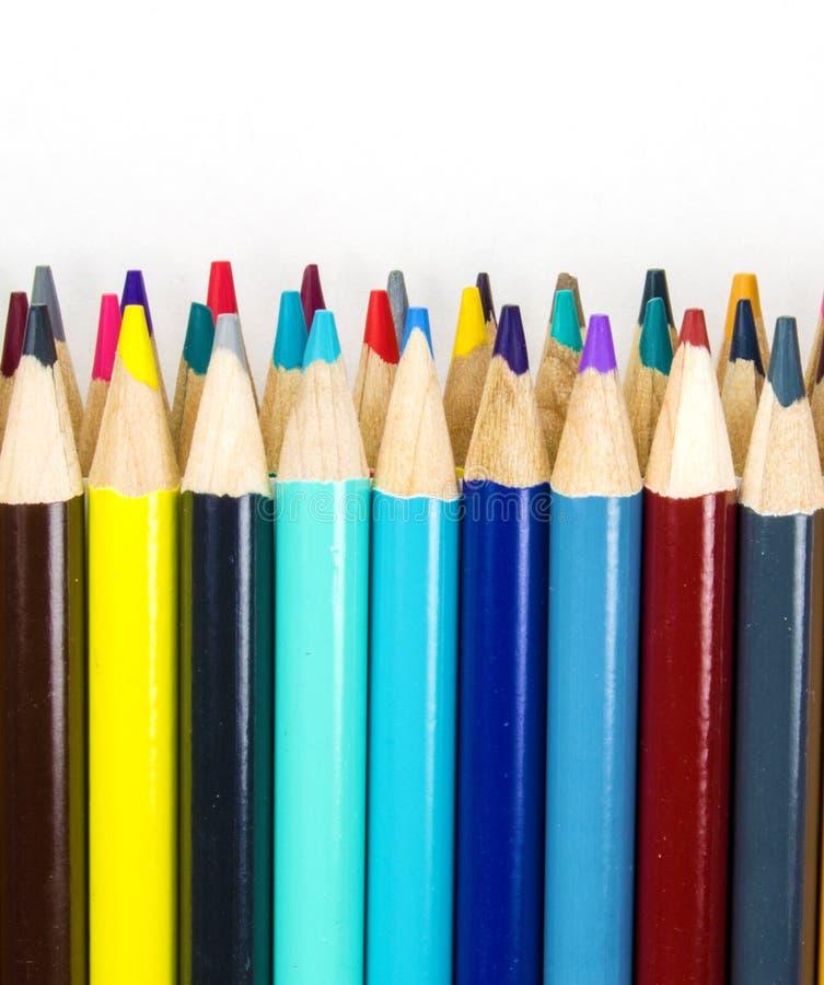 Bunter Art Pencils lizenzfreies stockbild